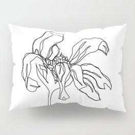 Botanical floral illustration line drawing - Katy Pillow Sham