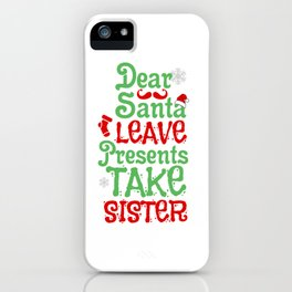 Christmas Santa Sister Santa Claus Gift iPhone Case