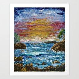 """Somewhere Sunset"" Art Print"