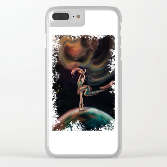 The dancing universe Clear iPhone Case