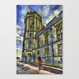 Windsor Castle Coldstream Guard Art Canvas Print