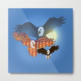 American Eagles Tribute Blue Metal Print