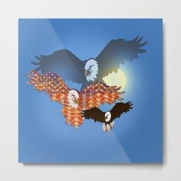 American Eagles Tribute Blue Metal Print
