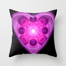 Glow Love Heart Throw Pillow