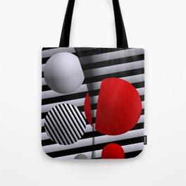red-white-black -5- Tote Bag