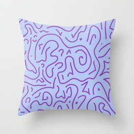 Early 2000s Keychain Throw Pillow