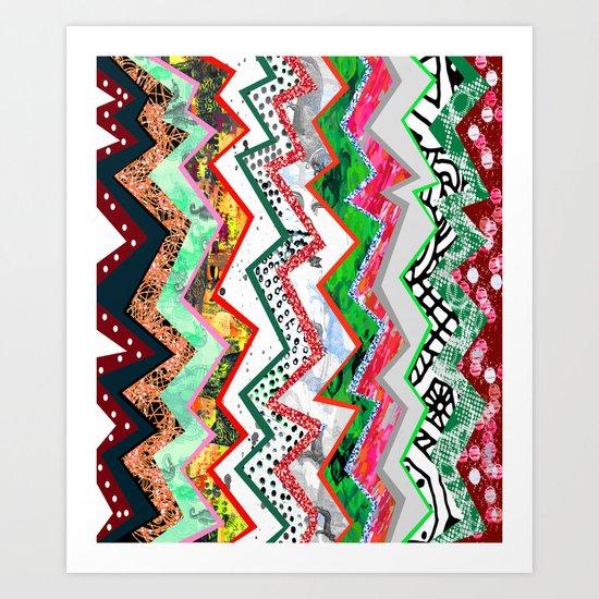 Candy Land Zigzags Art Print