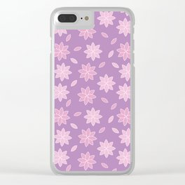 Cherry blossom pattern design Clear iPhone Case