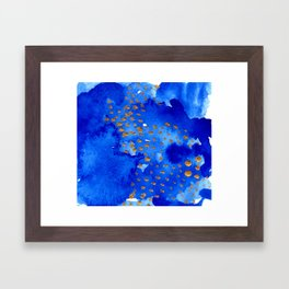 gold snow I Framed Art Print