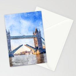 london-tower-bridge-bridge-england Stationery Cards