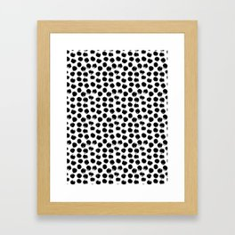 Black Polka Dots II Framed Art Print