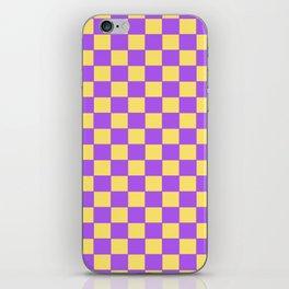 Checkers - Purple and Yellow iPhone Skin
