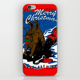 Rudolph the Red Nose Beast iPhone Skin