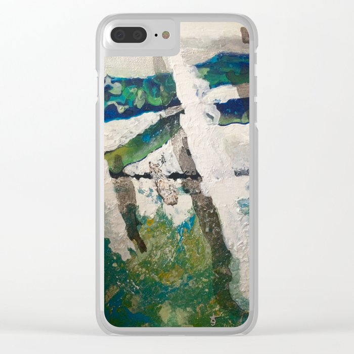 Polar Bear Going Home Clear iPhone Case