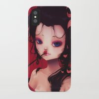 geisha iPhone & iPod Cases featuring Geisha by Ludovic Jacqz
