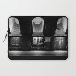 Alight here for Sherlock Holmes - Baker Street Tube Laptop Sleeve
