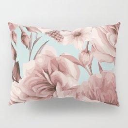 SEPIA ROSES ON GREEN Pillow Sham