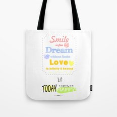 {ENG} SMILE · DREAM · LOVE Tote Bag