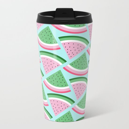 FreshWatermelon Metal Travel Mug