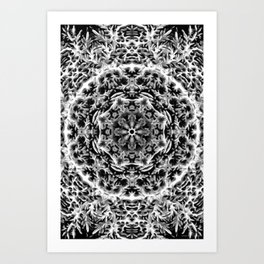 Black-and-White Abstract 44 Art Print