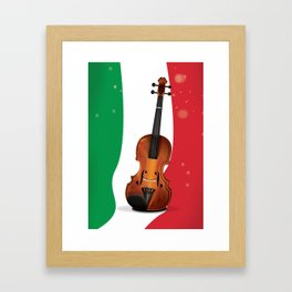 Italian flag and Violin  Framed Art Print
