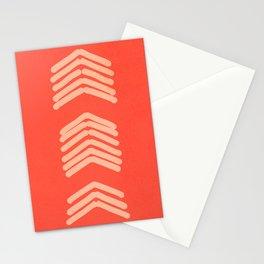 Zora's Chevron - cream and bright coral Stationery Cards