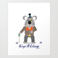 Couth Koala Art Print