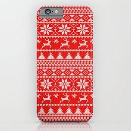 Fair Isle Christmas iPhone Case