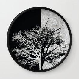 Natural Outlines - Oak Tree Black & Concrete #402 Wall Clock