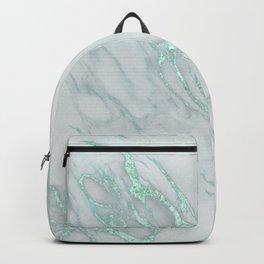 Marble Love Mint Metallic Backpack