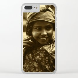 Vintage Photo Clear iPhone Case