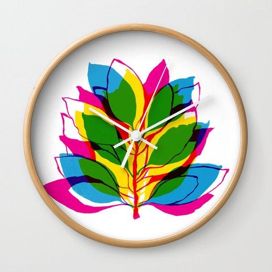 Blossom CMYK Wall Clock