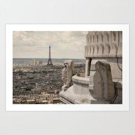 Watching Over Paris Art Print