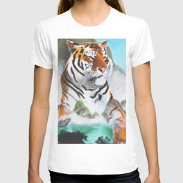 Quiet Tiger - big cat - animal - by LiliFlore T-shirt