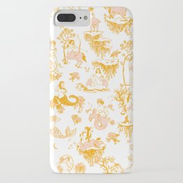 Astrology-Inspired Zodiac Gold Toile Pattern iPhone Case