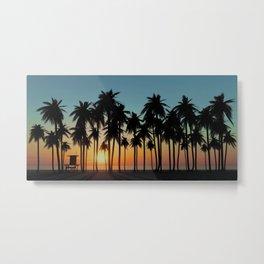 Newport Sunset in 3D Metal Print