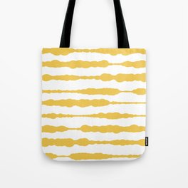 Macrame Stripes in Mustard Yellow and White Tote Bag