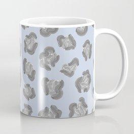Snow Leopard Print Pattern Coffee Mug