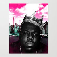 big poppa Canvas Prints featuring Big Poppa Still King by TallRob Design
