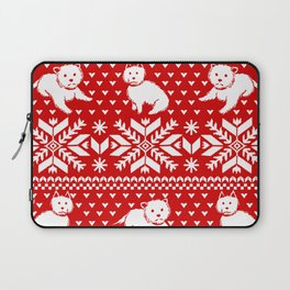 Fair Isle Westies Laptop Sleeve