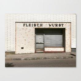 Fleisch Wurst Canvas Print