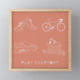 Play Everyday Framed Mini Art Print