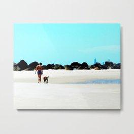Walk on the Beach Metal Print