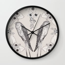 Summer Swallow Wall Clock