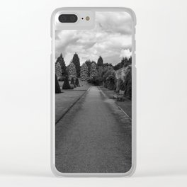 Newstead Abbey Country Garden Gravel Path Clear iPhone Case