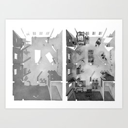 CLEO FROM 5 TO 7's apartment in watercolor Art Print