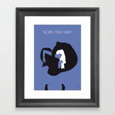 No038 MY Born This Way Minimal Music poster Framed Art Print