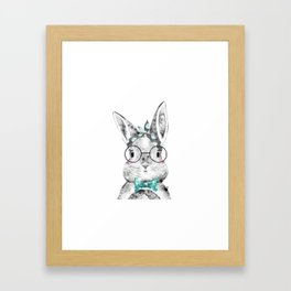 Bunny with Scarf and Bowtie Framed Art Print