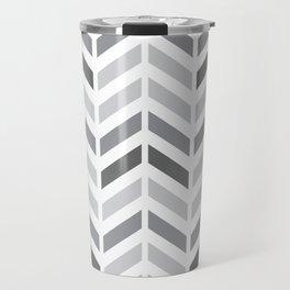 Chevron Grey Small Pattern Travel Mug