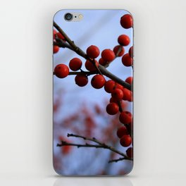 Red Winterberries iPhone Skin